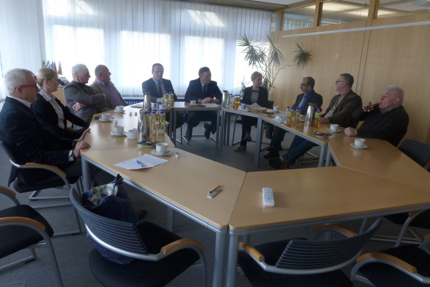 Przedstawiciele Chojnic na uroczystym otwarciu Nowego Roku w mieście Emsdetten