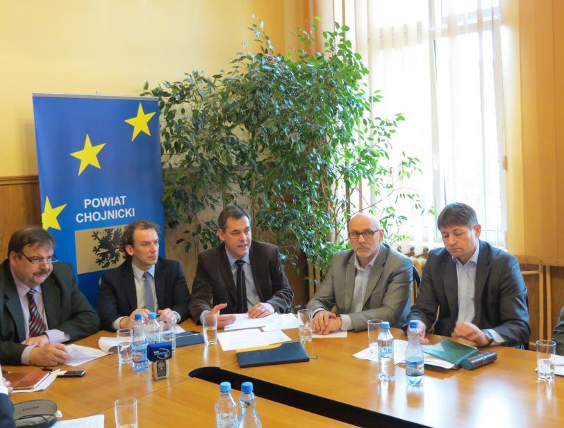 Konferencja prasowa u Starosty Powiatu Chojnickiego