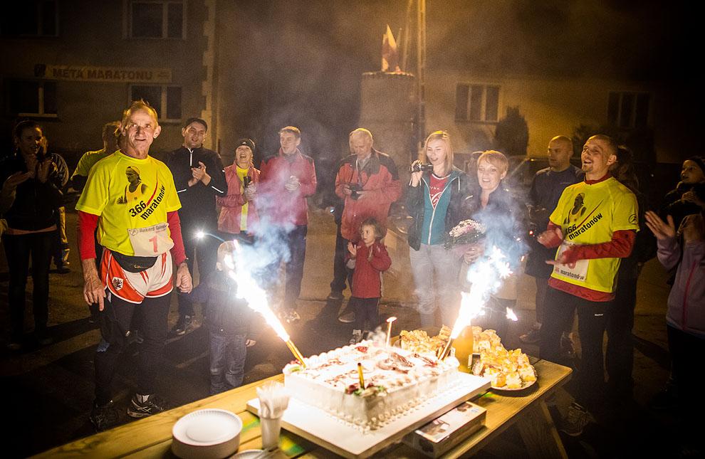 43. maratony w 43 dni. Rolnik z Wituni pobił rekord Polski