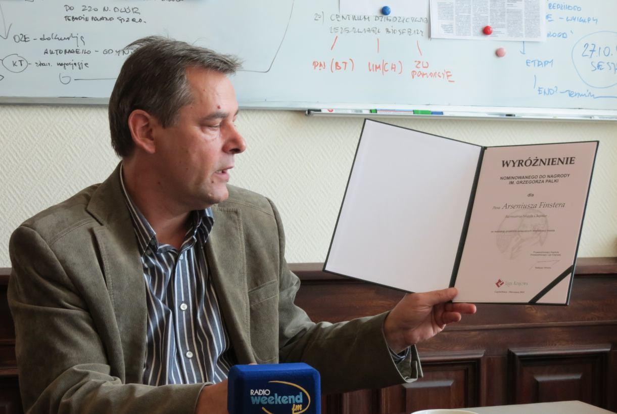 Wyróżnienie dla Burmistrza Miasta Chojnice