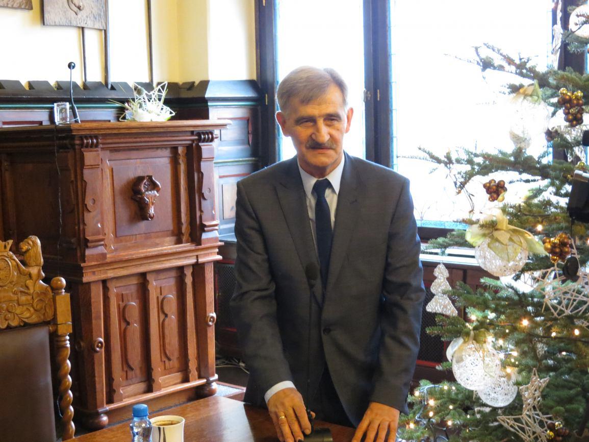 Pożegnanie Jana Zielińskiego, wiceburmistrza Chojnic