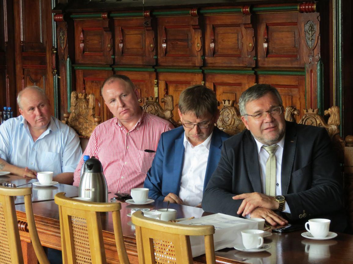 Burmistrz Kartuz z wizytą w Chojnicach