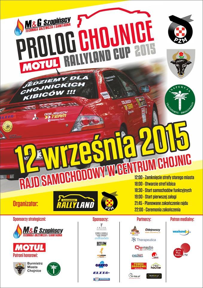 Przyjdź i zobacz prolog rajdu Motul Rallyland Cup 2015