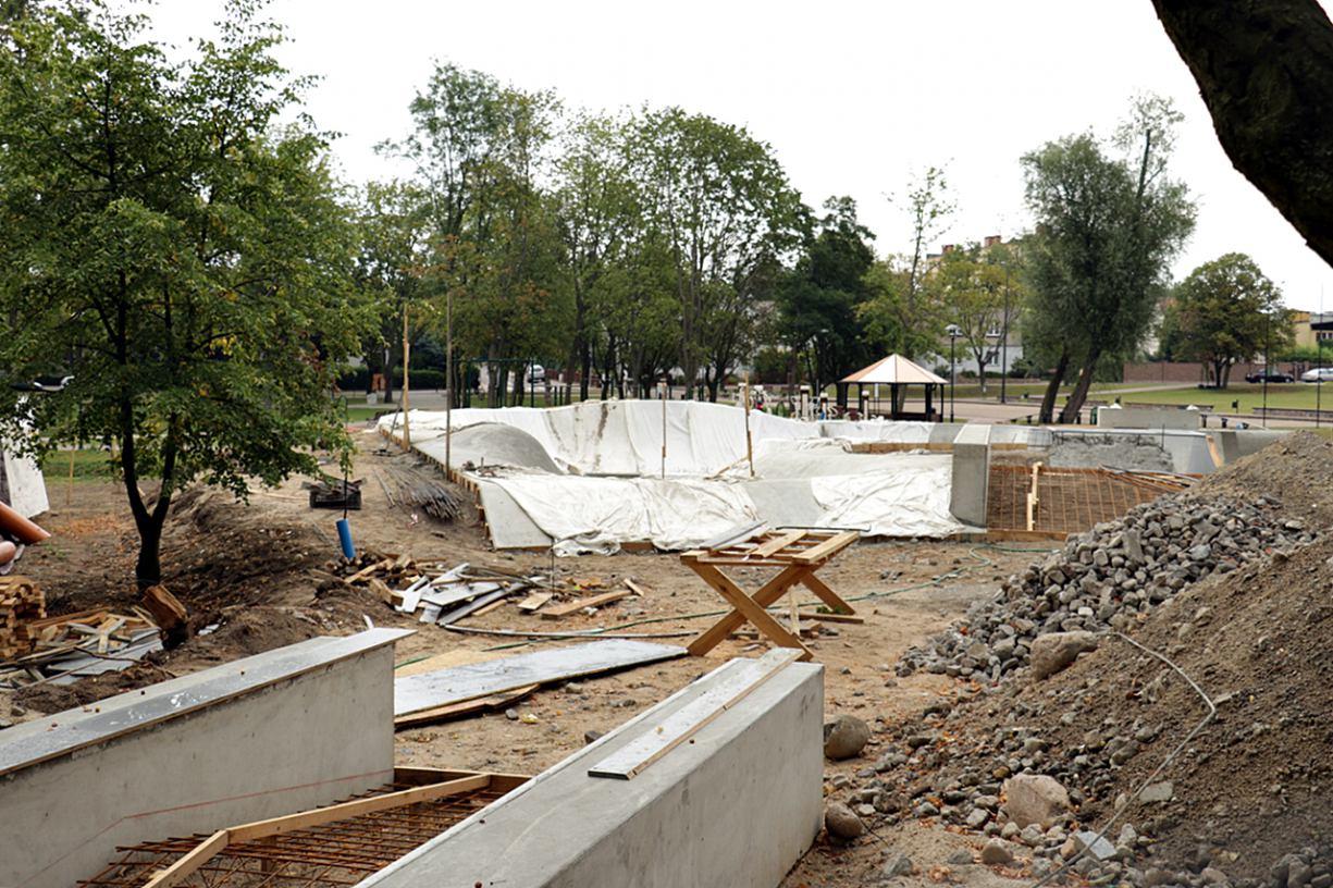 Budowa skateparku w Chojnicach