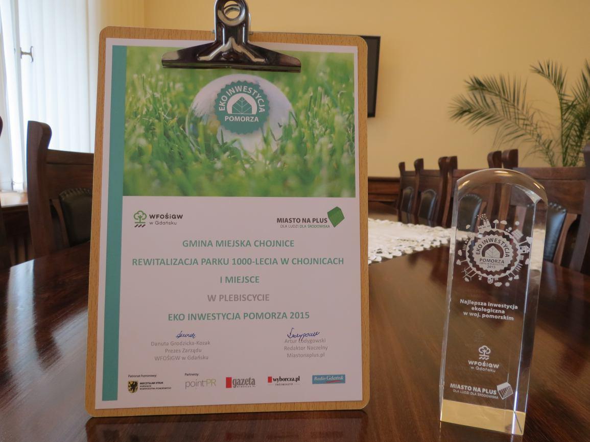 Kolejna nagroda dla Parku 1000-lecia w Chojnicach