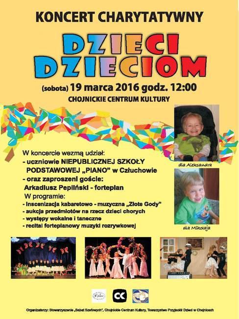 Zapraszamy na koncert charytatywny Dzieci Dzieciom