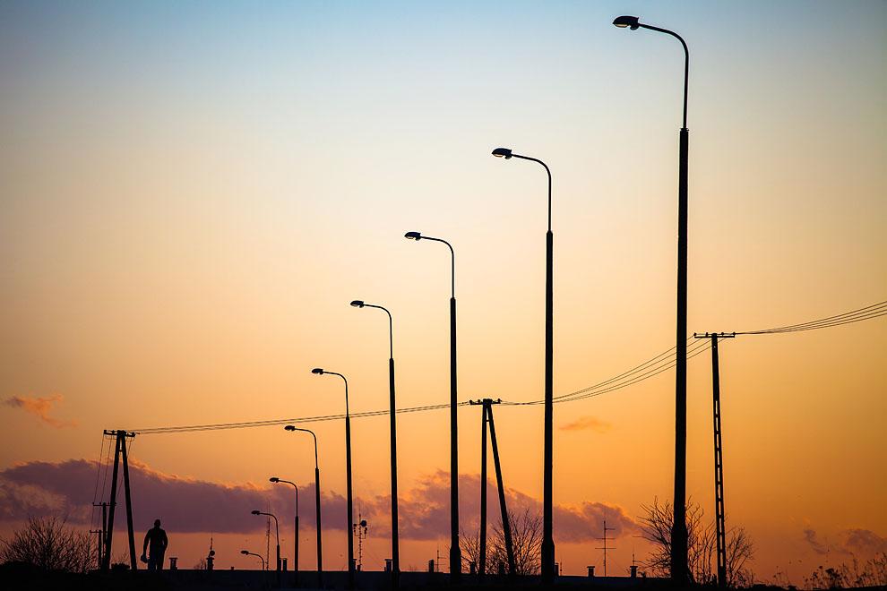 Dwie ulice w Gostycynie z nowym oświetleniem