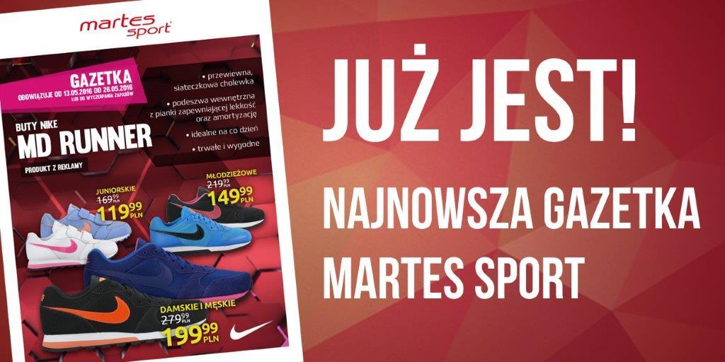 Tylko w Martes Sport! Sportowe buty NIKE MD RUNNER męskie i damskie już za 199,99 oraz dziecięce za 119,99