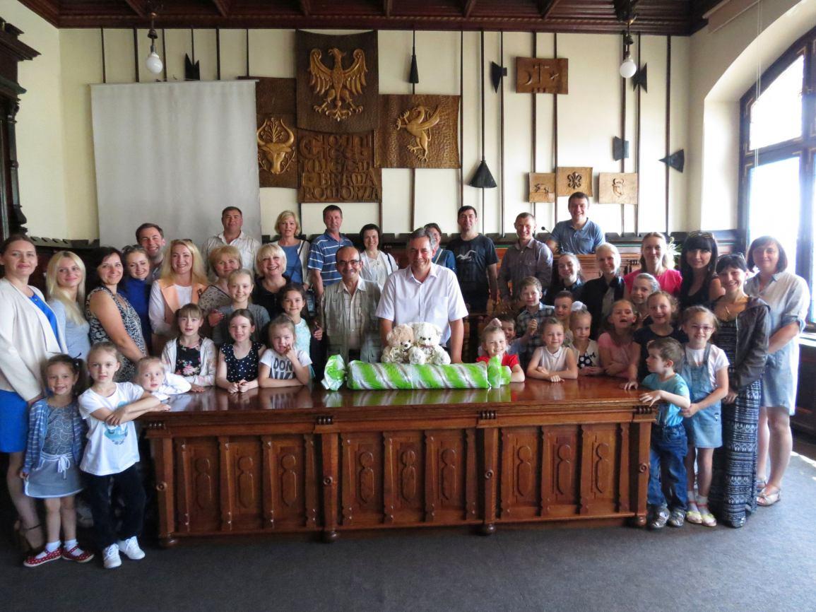 Delegacja z partnerskiego Mozyra z wizytą w Chojnicach