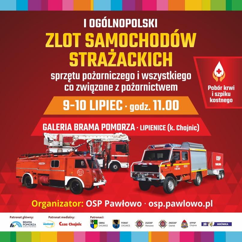 I Ogólnopolski Zlot Samochodów Strażackich w Bramie Pomorza