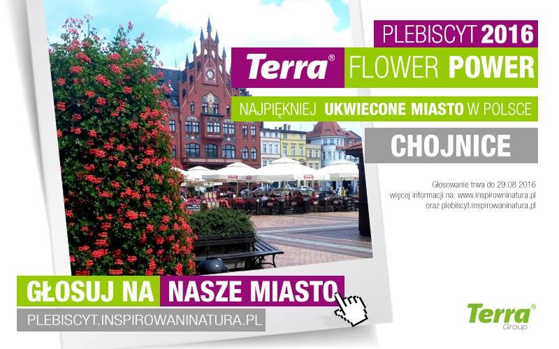 Zagłosuj na Chojnice w plebiscycie Terra Flower Power