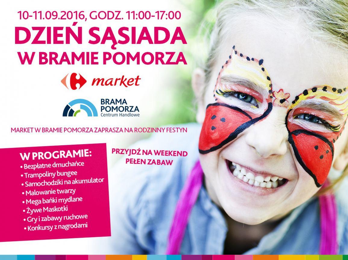 Market w Bramie Pomorza zaprasza na rodzinny festyn