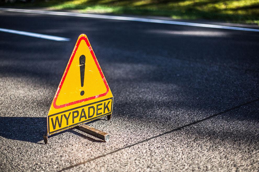 Zdarzenie z udziałem 3 samochodów na drodze Chojnice - Brusy