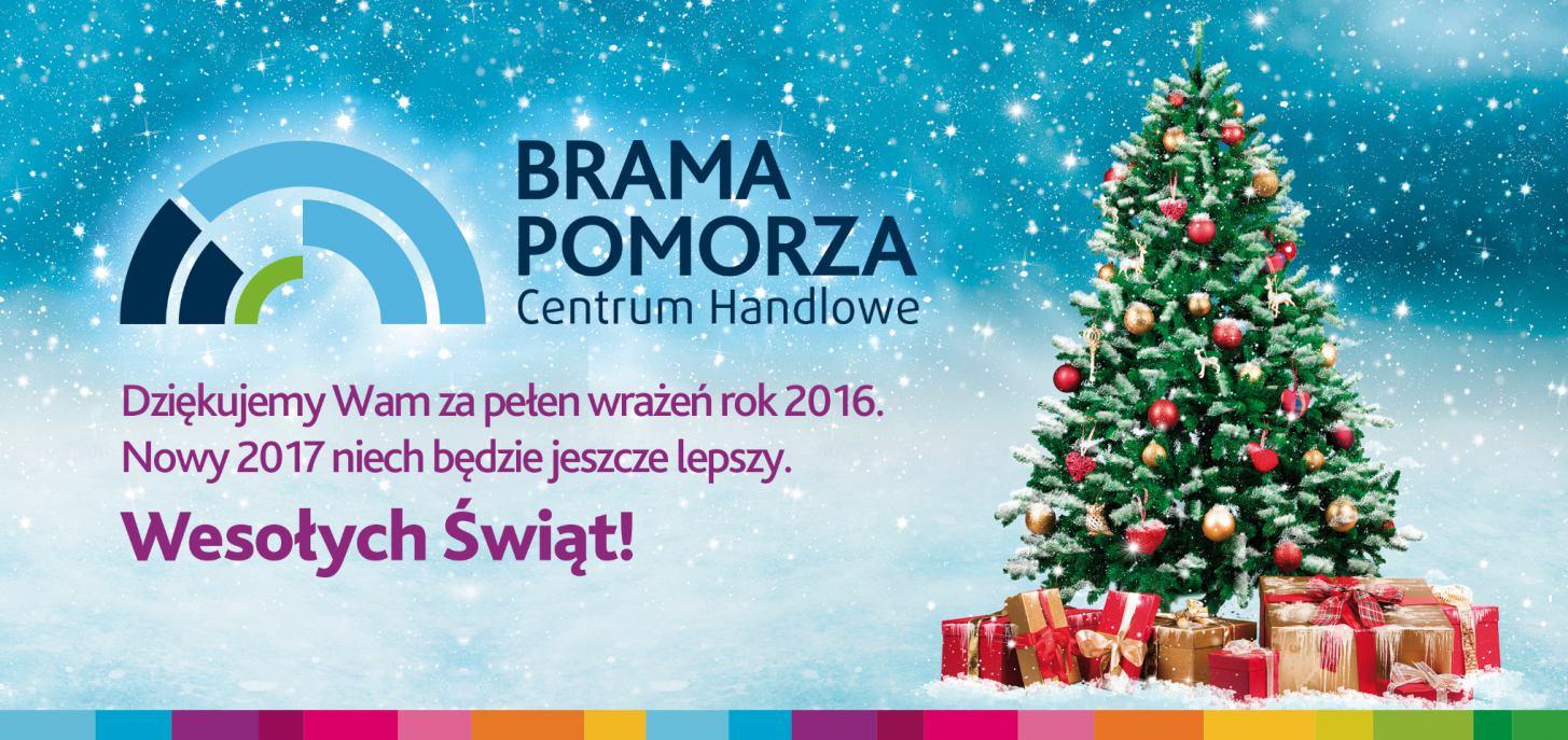 Życzenia Świąteczne i noworoczne od Bramy Pomorza