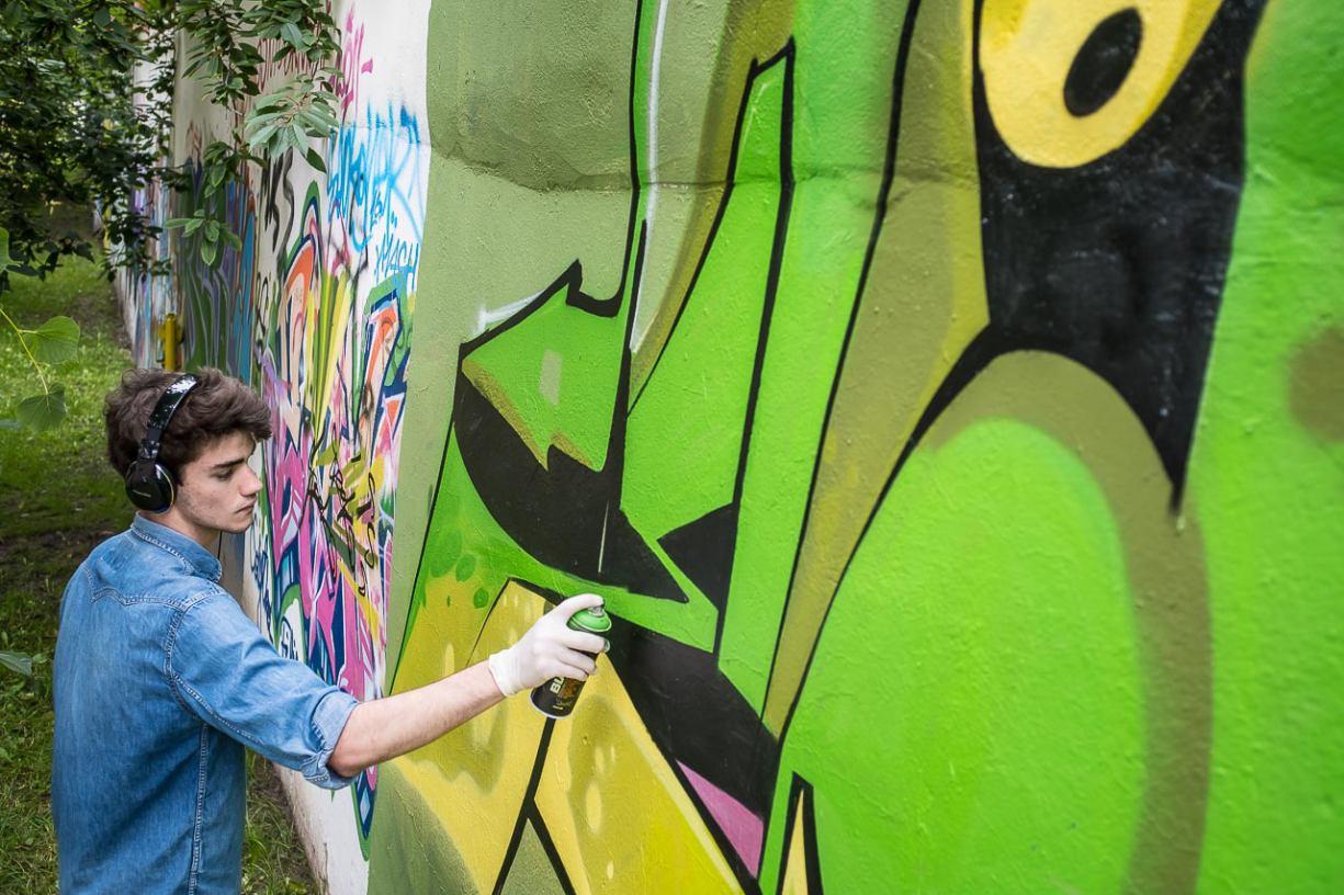 Powstaje nowe graffiti w Parku 1000-lecia
