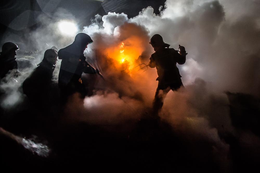 Pożar słomy w Charzykowach