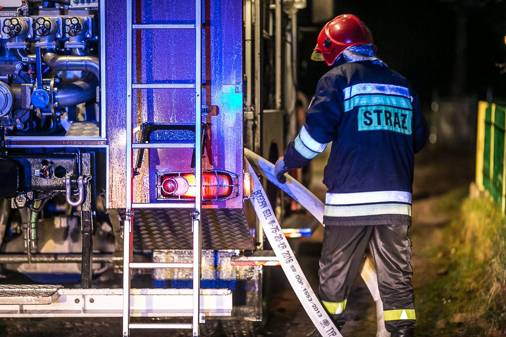 Pożar domu mieszkalnego w gminie Karsin