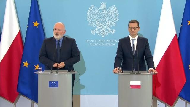Otrzymałem informacje, które będę analizował. F. Timmermans po spotkaniu z premierem M. Morawieckim