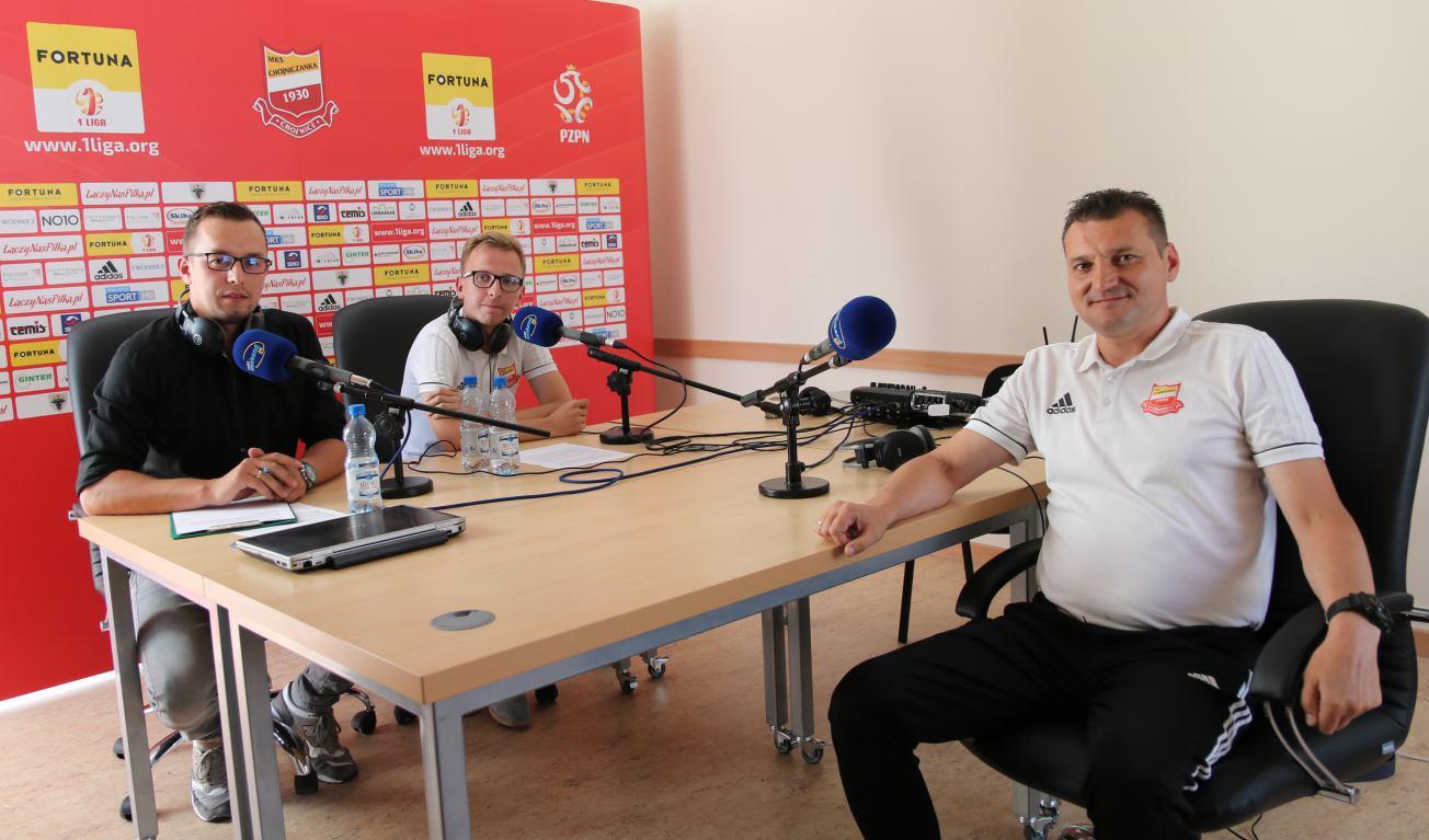 U progu sezonu w pierwszej lidze rozmowy z trenerem Chojniczanki i wiceprezesem Bytovii