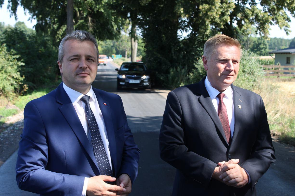 Uroczyste otwarcie odcinka drogi wojewódzkiej nr 240 w powiecie tucholskim