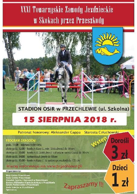 Towarzyskie Zawody Jeździeckie w Skokach przez Przeszkody w Przechlewie