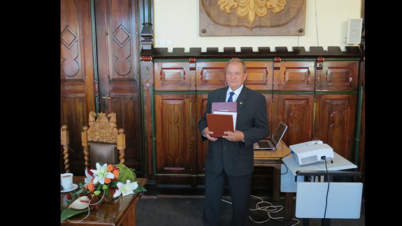 Edmund Hapka Zasłużonym Obywatelem Miasta Chojnice