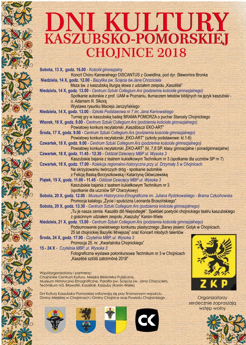Dni Kultury Kaszubsko-Pomorskiej 2018