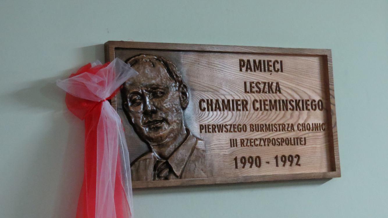 Tablica pamięci Leszka Chamier Cieminskiego
