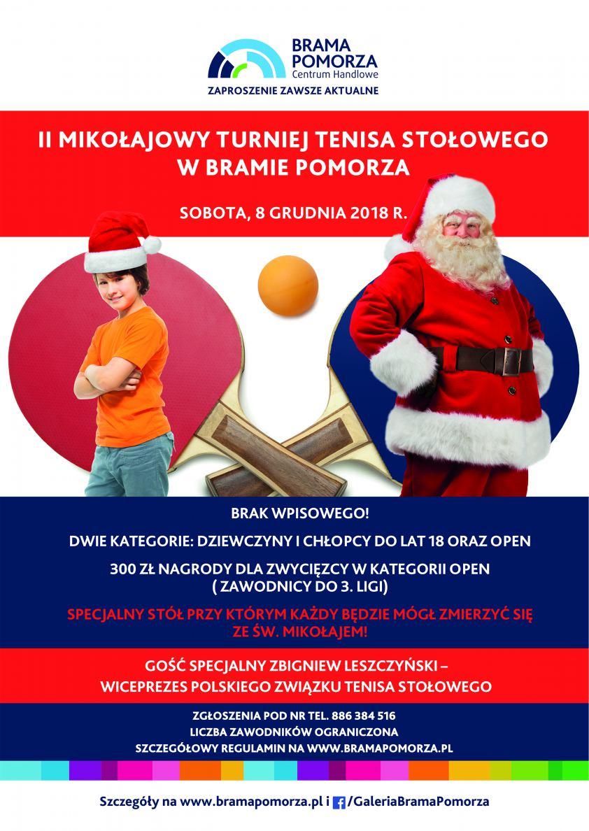 Nietypowy turniej tenisa stołowego w Chojnicach