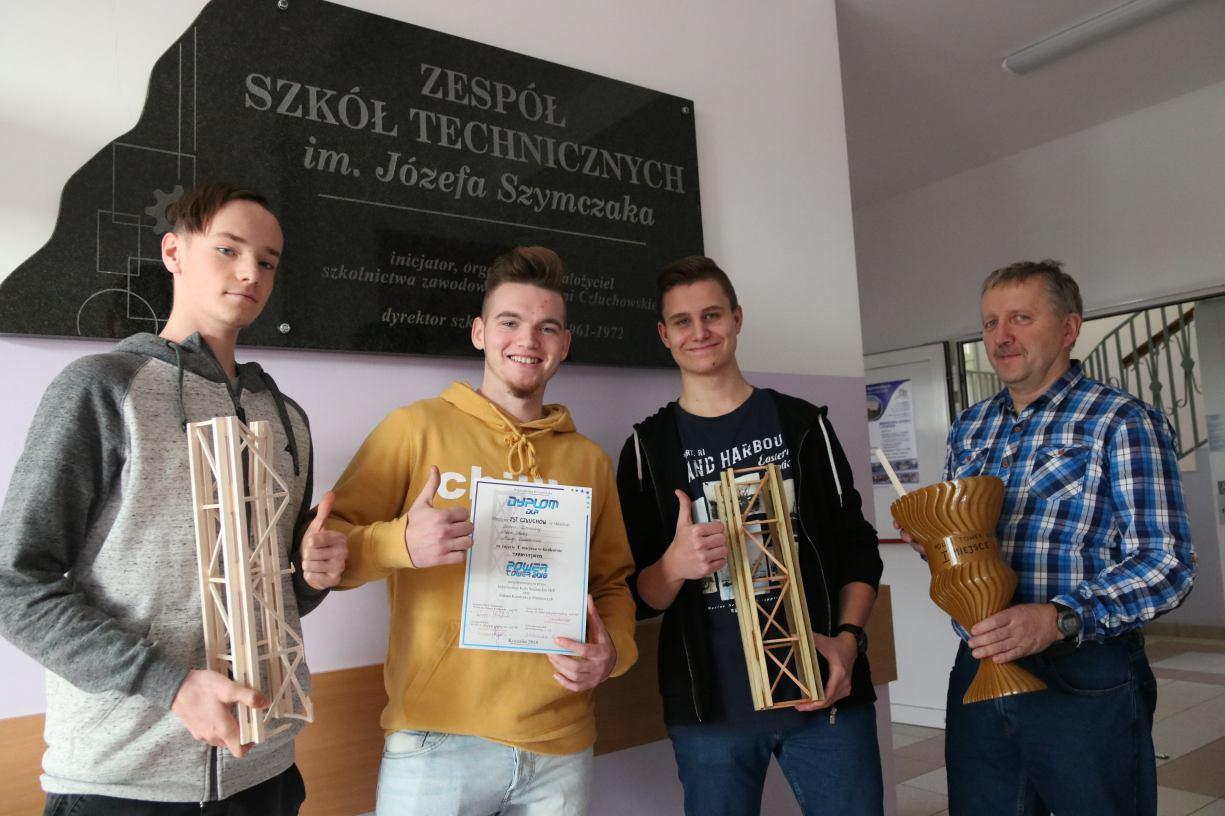 Uczniowie Zespołu Szkół Technicznych w Człuchowie wygrali konkurs Power Tower