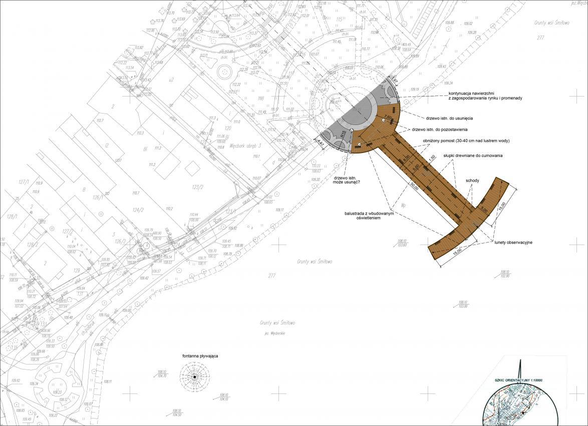 Władze Więcborka przygotowują się do budowy molo na jeziorze w centrum miasta