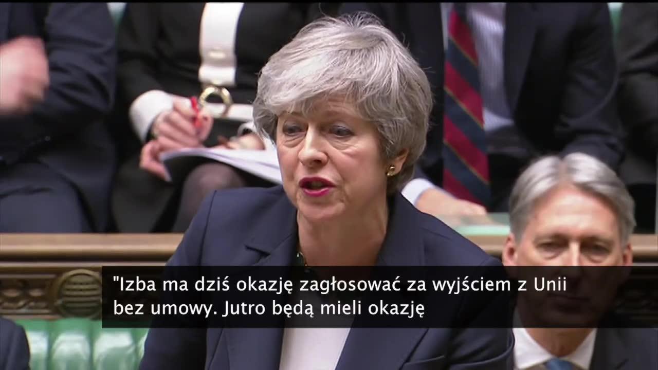 Brexit bez umowy? Parlament odrzucił projekt zaledwie czterema głosami