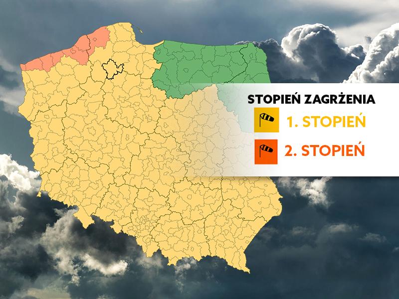 Silny wiatr w regionie nie spowodował żadnych poważnych szkód