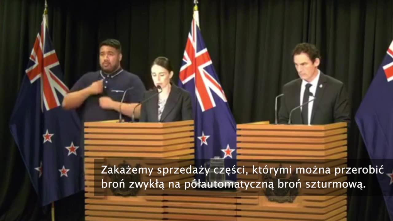 Premier Nowej Zelandii zapowiada wprowadzenie zakazu broni automatycznej i szturmowej