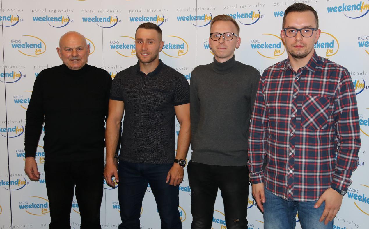 Wicemistrz olimpijski Jerzy Opara i przyszły mamy nadzieję olimpijczyk Michał Łubniewski z Człuchowa gośćmi Weekend FM