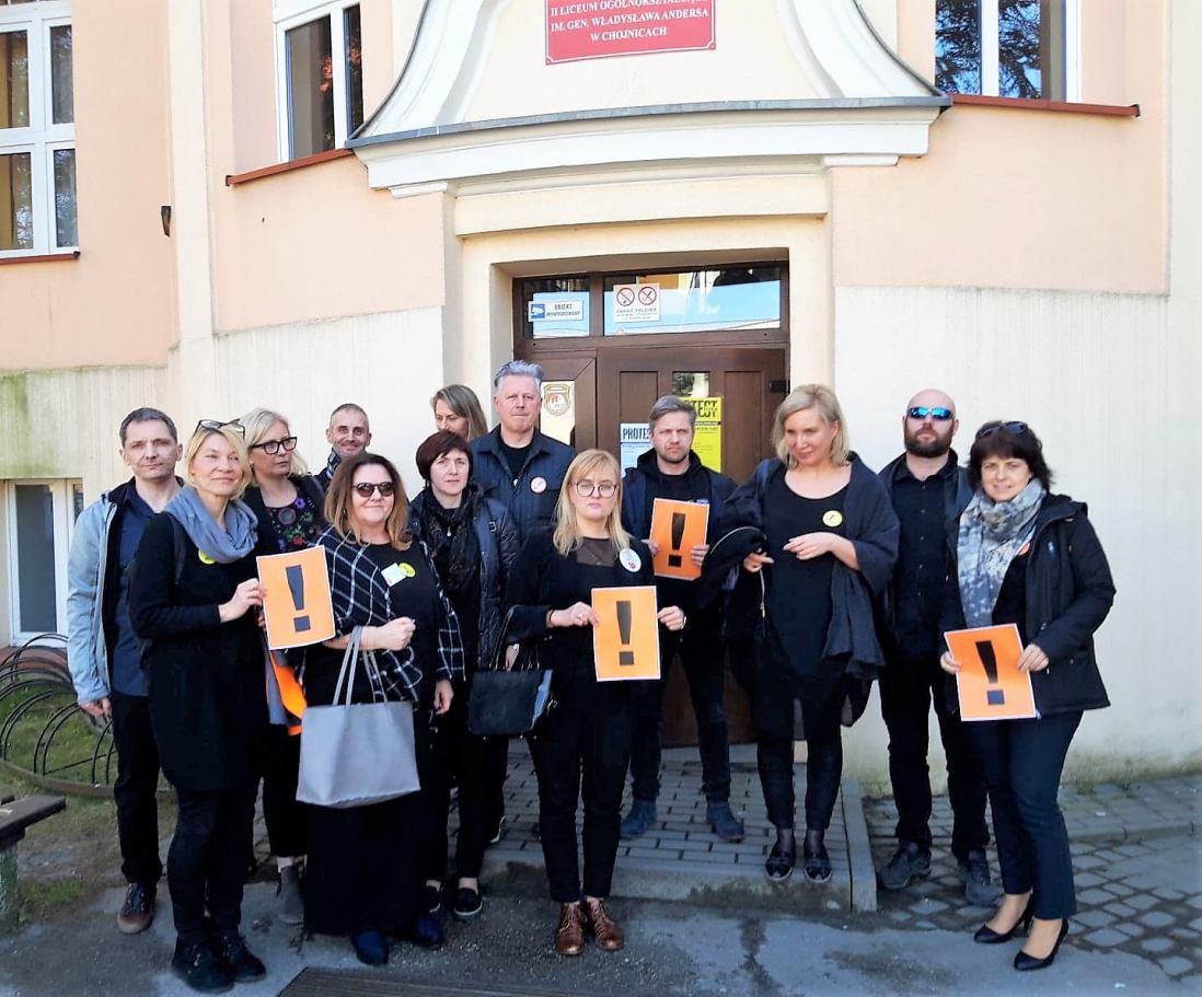 Wdowa po prezydencie Gdańska Pawle Adamowiczu wsparła strajkujących nauczycieli z Chojnic