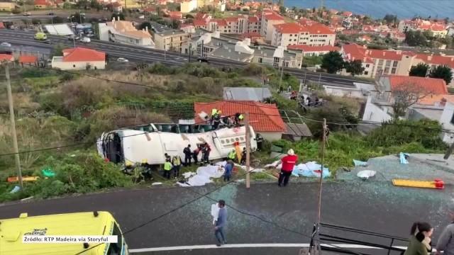 Co najmniej 29 osób zginęło, a 27 zostało rannych wypadku autobusu na Maderze. Ofiary to głównie niemieccy turyści