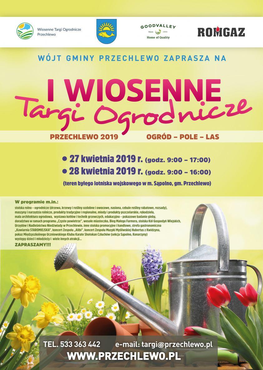 Ogród, pole, las - pod tym hasłem w weekend odbędą się I Wiosenne Targi Ogrodnicze Przechlewo 2019