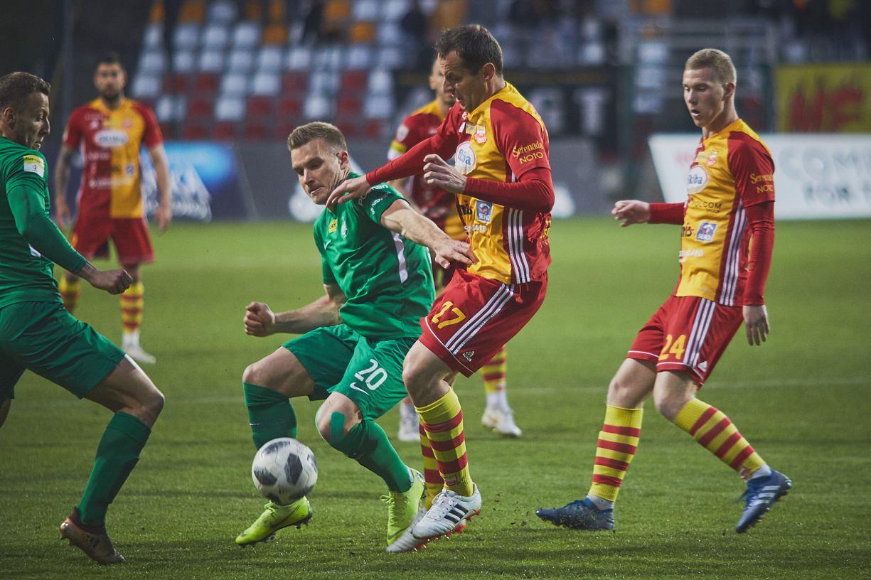 Chojniczanka przegrała z Wartą Poznań w swoim 200. meczu na poziomie 1. ligi RELACJA, FOTO