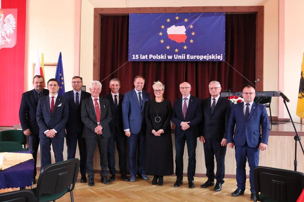 Człuchów świętował dziś 13.05 15-lecie członkostwa Polski w Unii Europejskiej FOTO