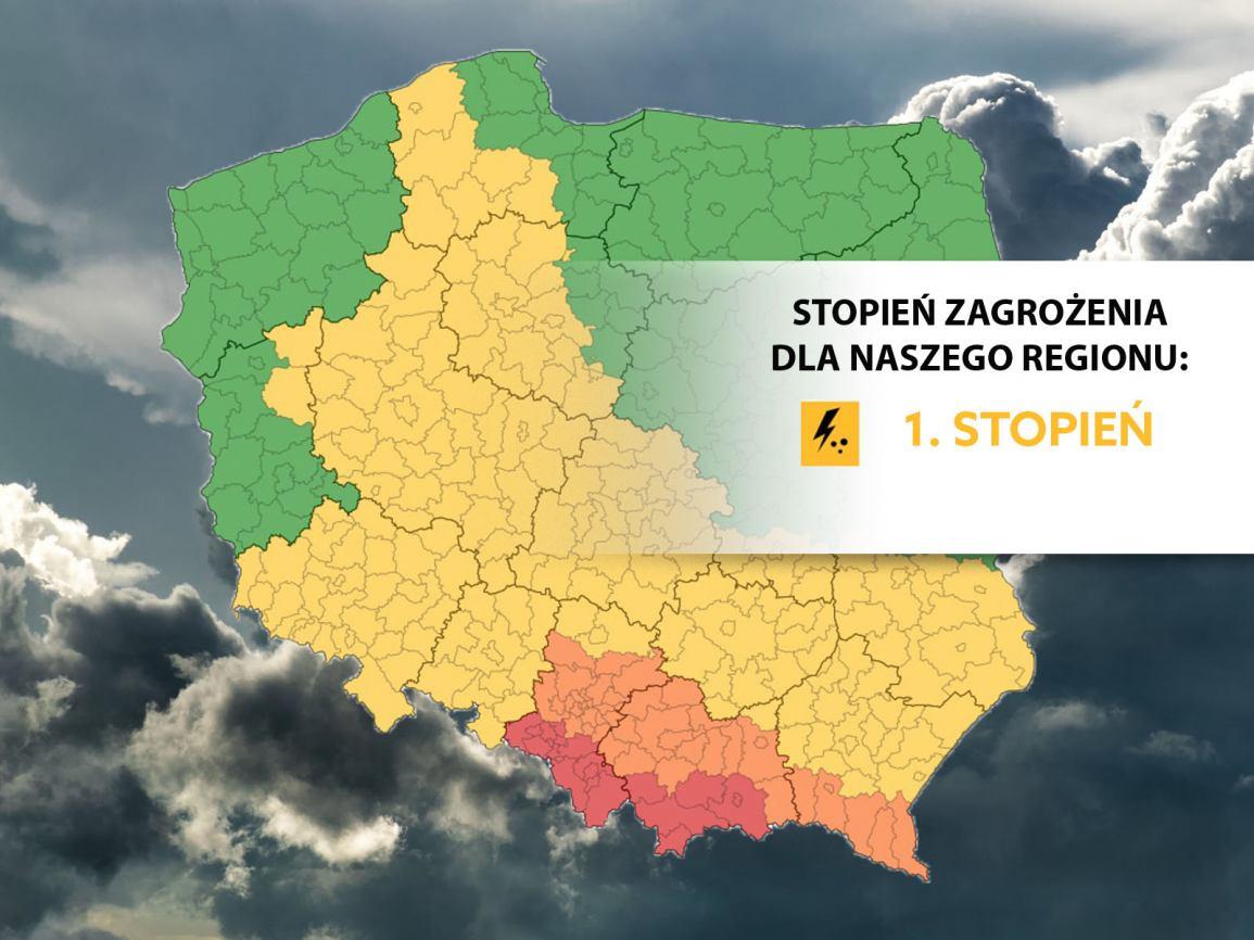 IMGW ostrzega: możliwe są burze z gradem i porywisty wiatr