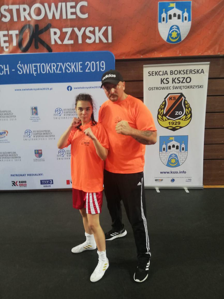 Myroslawa Vakulenko z Nowych Boxing Polnica zdobyła srebrny medal Ogólnopolskiej Olimpiady Młodzieży w Boksie