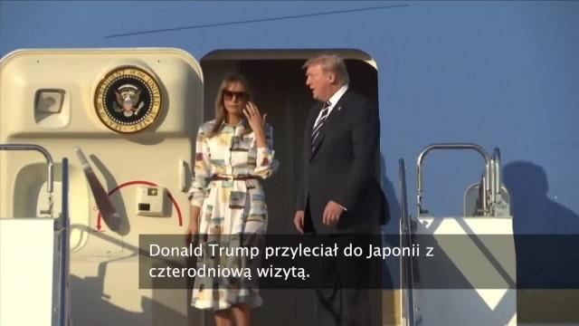 Donald Trump przyleciał do Japonii z czterodniową wizytą