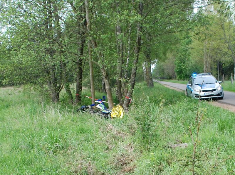 Śmiertelny wypadek w powiecie człuchowskim. Zginął motocyklista