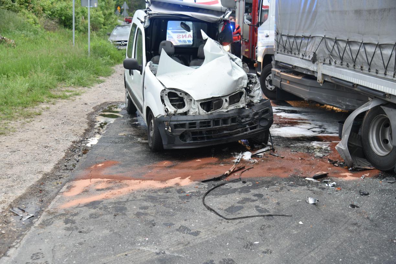 Wypadek na drodze Tuchola-Śliwice