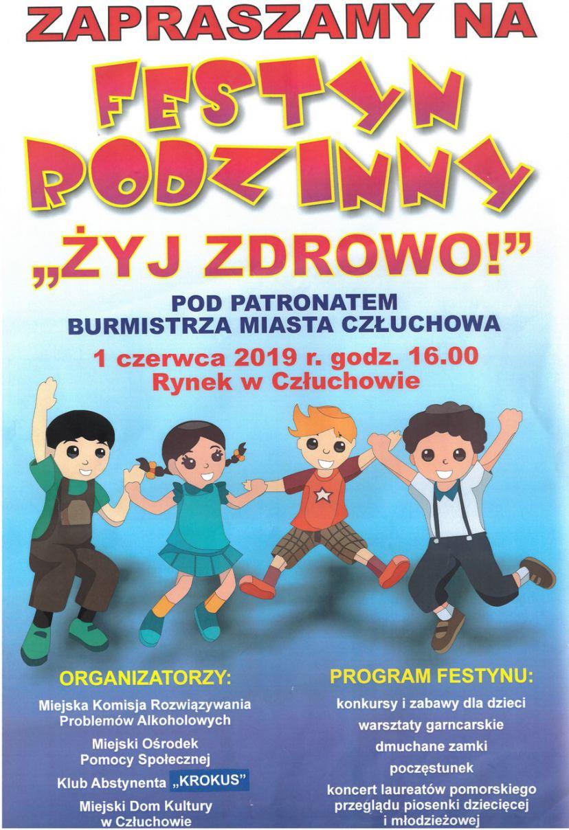 Festyn rodzinny i festiwal piosenki - to propozycje dla mieszkańców Człuchowa na Dzień Dziecka