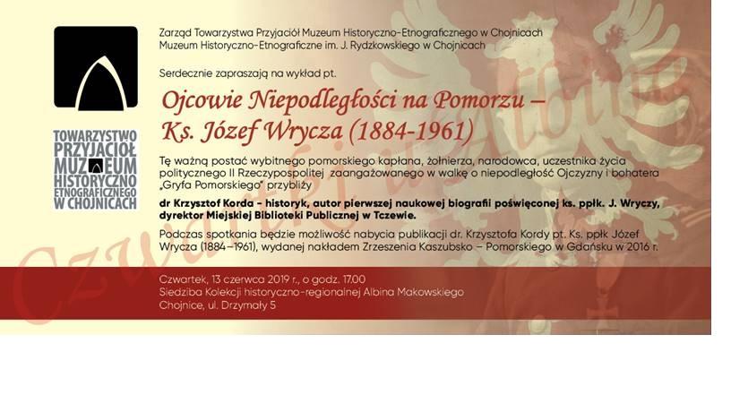 Muzeum Historyczno - Etnograficzne w Chojnicach zaprasza na wykład