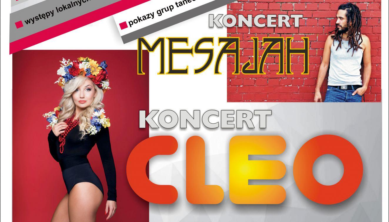 Dziś Dni Człuchowa. Zagrają Cleo i Mesajah. Wcześniej specjalne wydanie listy przebojów Weekend FM z Człuchowa