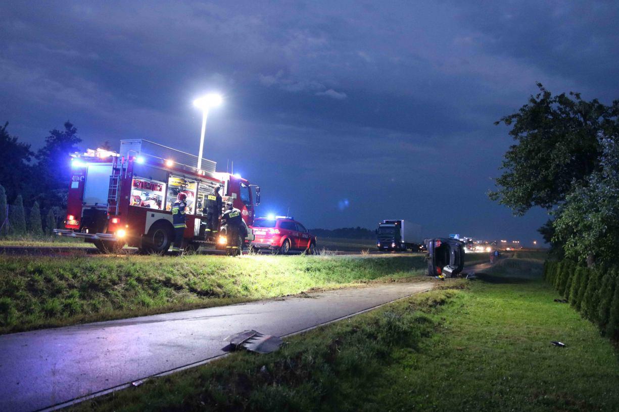Wypadek na drodze Chojnice - Tuchola. Zderzyły się dwa samochody osobowe