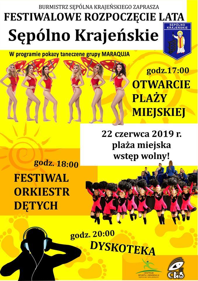 Dziś (22.06) oficjalne otwarcie sezonu letniego na plaży miejskiej w Sępólnie Krajeńskim